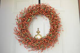 halloween door garland orange fall wreath fall berry wreath autumn door wreath