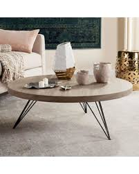 safavieh manelin coffee table deal alert safavieh mansel round coffee table in light grey