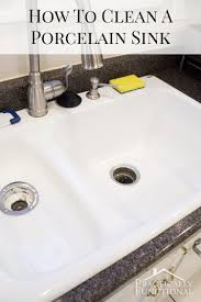 Stunning  How To Clean White Porcelain Kitchen Sink Decorating - White enamel kitchen sinks