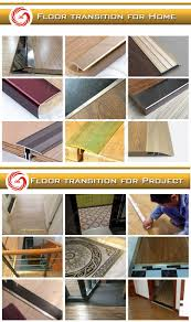 Metal Transition Strips Flooring by Aluminum Floor Profiles Pvc Inserted Metal Transition Door Strips