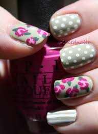 vintage flower nail art wickednails