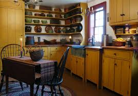 awesome primitive kitchen ideas with wooden cabinet and dining