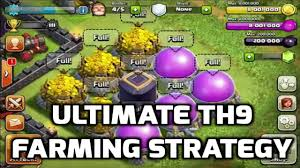 clash of clans farming guide ultimate th9 farming strategy post update the new th sniping