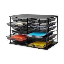 Desk Organizer Shelf desk organizer mesh drawer letter file tray 12 compartment storage