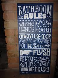 Home Decorating Rules by Navy Bathroom Sign Home Decor Sign Bathroom Rules Hand Painted