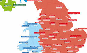 Counties Of England Map the one thing each uk county leads in sykes cottages blog
