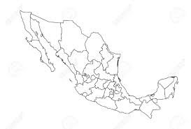 Map De Mexico by Deatiled Vector Map Of Mexico Royalty Free Cliparts Vectors And