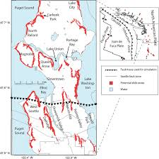 Seattle City Limits Map by A Scenario Study Of Seismically Induced Landsliding In Seattle