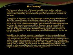 her story necklace images The necklace guy de maupassant ppt video online download jpg