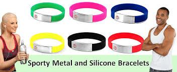 metal silicone bracelet images Metal and silicone bracelets elegant medical alert png