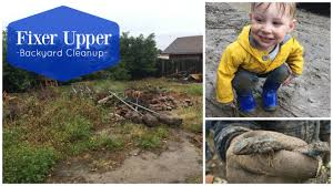 fixer upper backyard cleanup youtube