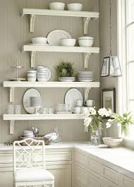 stainless steel shelves for kitchen wall shelf on the wooden wall