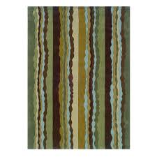Area Rugs Ta Linon Home Decor Trio Collection Green And Spa Blue 5 Ft X 7 Ft