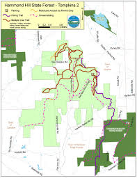 Finger Lakes New York Map by Hammond Hill State Forest