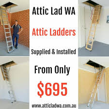 fold down attic stairs by attic lad wa attic ladders perth