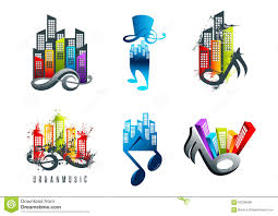 country music karaoke free music logo karaoke symbol beat icon and sound concept design stock