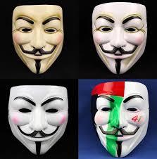 Halloween Costume Movie Theme Face Mask Hackers Blush Halloween Costume