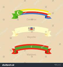 Comoros Flag Ribbon Flag Comoros Mayotte Maldives Flat Stock Vector 708798400