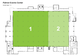 Event Floor Plans by Palmer Events Center Level 1