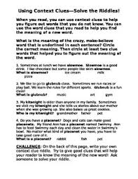 context clues riddles by brittany hines teachers pay teachers