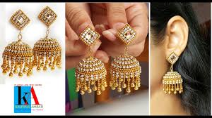 bridal jhumka earrings of designer silk thread bridal jhumka earrings at home