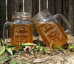 personalize wedding gifts bridal shower gift jar wedding rustic toasting glasses