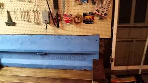 rustic tailgate bench diy youtube