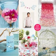 wedding backdrop initials the photo backdrop with its sky blue birds petal pink banner