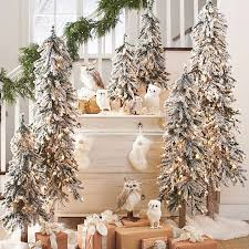 pre lit christmas gift boxes pretty flocked trees the owls pre lit alpine tree hohoho
