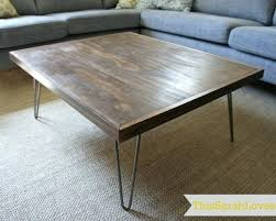 Hairpin Legs Coffee Table Diy Hairpin Leg Coffee Table Hairpin Leg Coffee Table Intended For