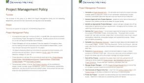 project charter template demand metric