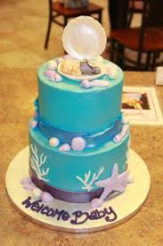 mermaid baby shower mermaid babyshower cake picture of c est si bon bakery san jose