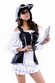 Corsets Halloween Costumes Womens Black Leather Corset Pirate Halloween Costume