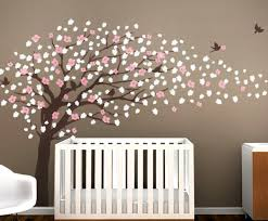 Cherry Blossom Tree Wall Decal For Nursery Tree Wall Decal Nursery Wall Great Tree Wall Decals For Nursery