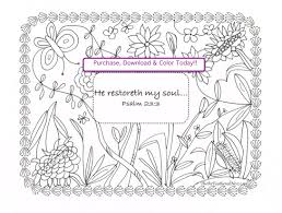 psalm 23 3 download scripture coloring page