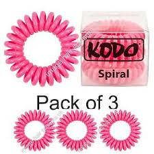 hair bobble kodo spiral hair bobble pack of 3 raspberry invisible tangle free