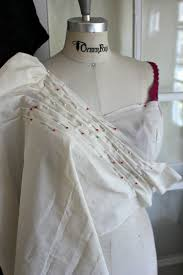 draping a pleated gown bodice
