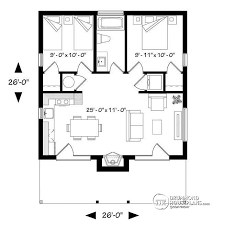 2 bedroom cabin plans house plan w1909 bh detail from drummondhouseplans com