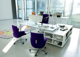 White High Gloss Office Desk Furniture Minimalist Home Office Furniture Sets Attractive White