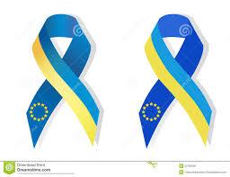 blue and yellow ribbon blue and yellow ribbon awareness stock vector image 52785030
