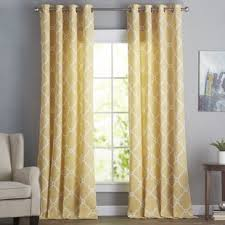 Yellow Window Curtains Yellow Gold Curtains Drapes You Ll Wayfair