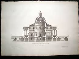 vitruvius britannicus c1720 architectural section mereworth