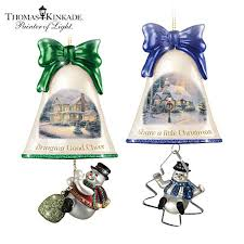 kinkade ringing in the holidays ornament set set 7