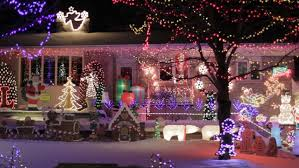 Canadian Houses Canadian Houses Decorated With Colourful Christmas Lights For The