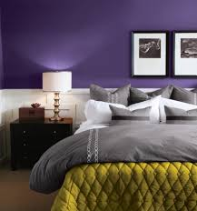 purple and silver bedroom ideas with wooden flooring for master