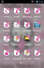 cute kitty android theme clauncher androidlooks