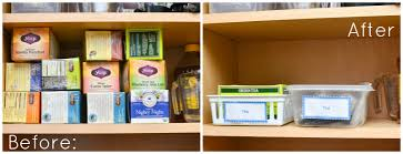 Kitchen Cupboard Organizers Ideas The Simple Inexpensive Way To Organize Tea