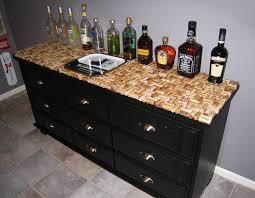 wine cork dresser makeover by decorating obsessed