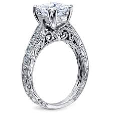 classic engagement ring kirk kara engraved engagement ring from the stella collection
