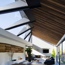 residential home designers concertina rooflight illuminates sydney house by nick bell design